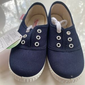 NWT Navy Cienta Lace-up Sneakers 10.5